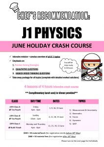 June Holiday Workshop J1PH