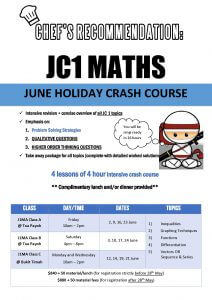 June Holiday Workshop J1MA
