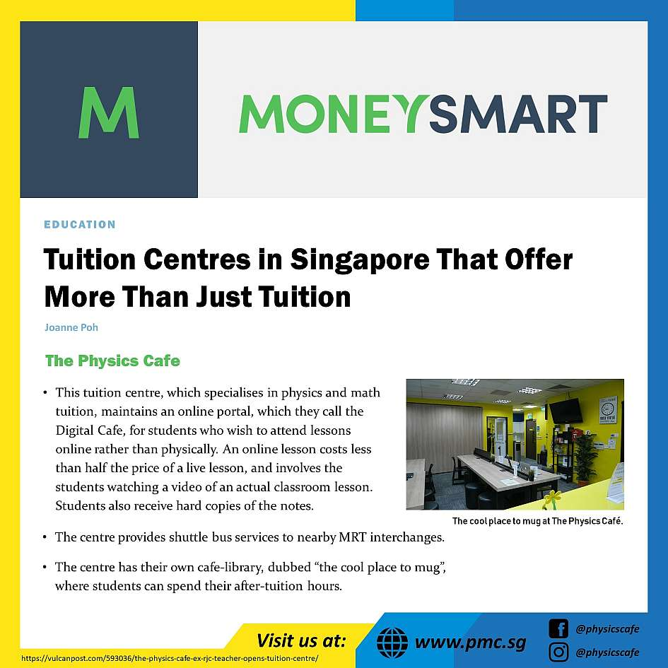 Most Popular and Reviewed Physics Tuition Centre in Singapore With