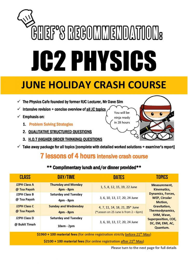 June Holiday Workshop J2PH