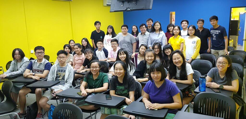 tuition class in the physics cafe